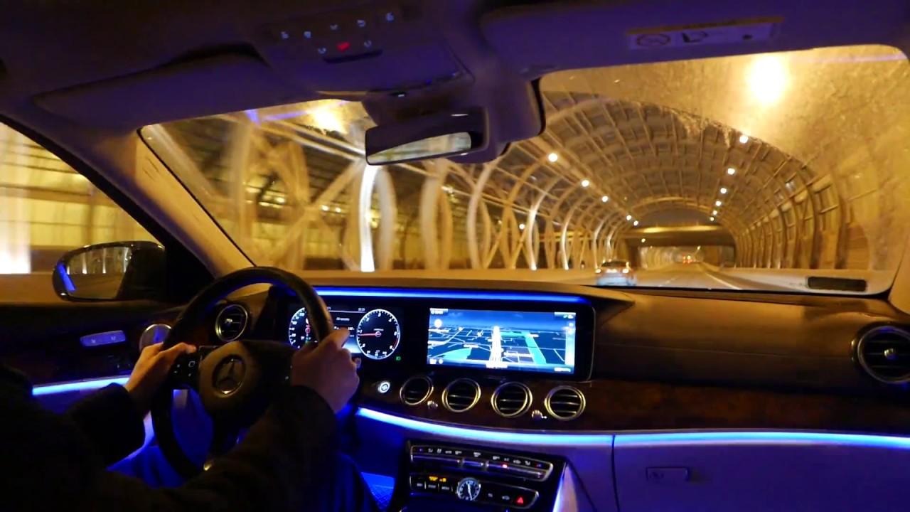 2016 Mercedes Benz E Class NIGHT DRIVING Amp BURMESTER Sound
