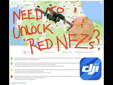 How to LEGALLY Unlock a DJI Red No Fly Zone (NFZ)?