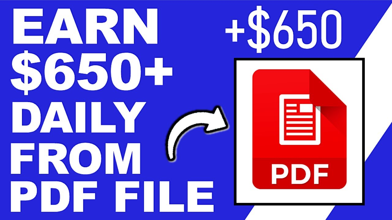 Earn $650 Daily From PDF Files (FREE) - Worldwide! (Make Money Online)