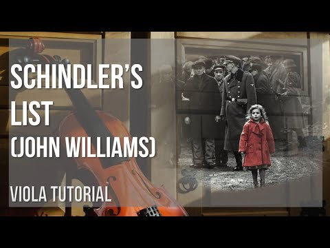 How to play Schindler's List by John Williams on Viola (Tutorial)