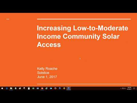 Webinar: Community Solar for Low  and Moderate Income Consumers (6.1.2017)