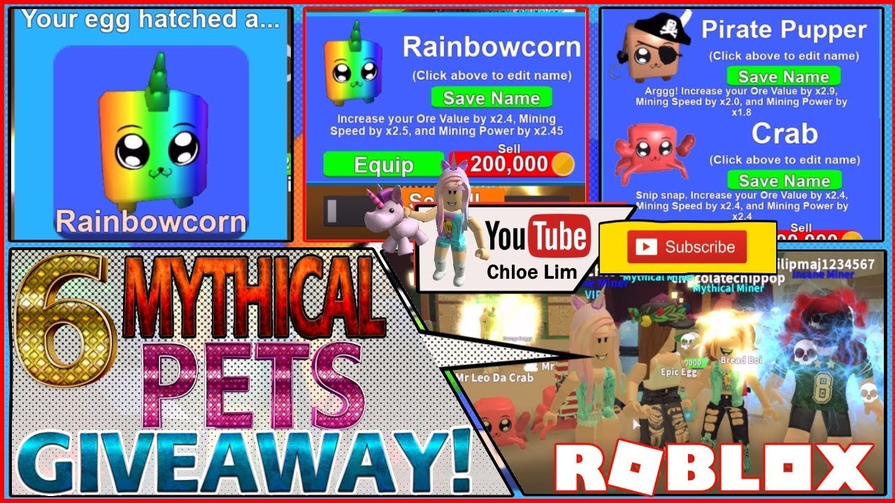 Roblox Gameplay Mining Simulator Mythicals Lower The
