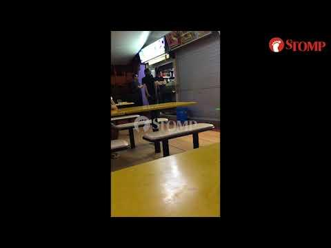 Man turns aggressive and hurls vulgarities at stallholders at Tanglin Halt Market