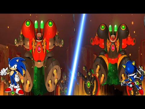 Sonic Lost World - Final Bosses But with 2 Eggman  
