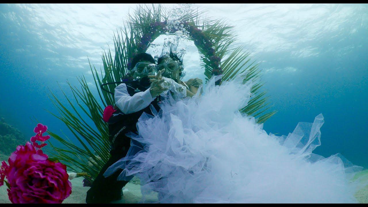 wedding underwater Mauritius