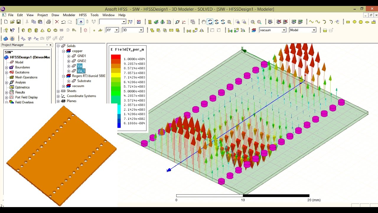 substrate integrated waveguide siw hfss simulation youtube rh youtube com Microstrip Filter Design Coplanar Lines