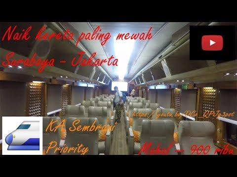 Naik Kereta Surabaya Jakarta Paling MAHAL Paling MEWAH - KA Sembrani Priority