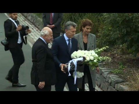 Macri homenajea en Nueva York a víctimas argentinas de atentado
