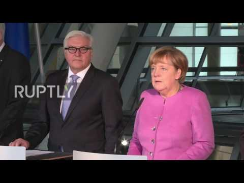 Germany: Merkel introduces FM Steinmeier as presidential candidate