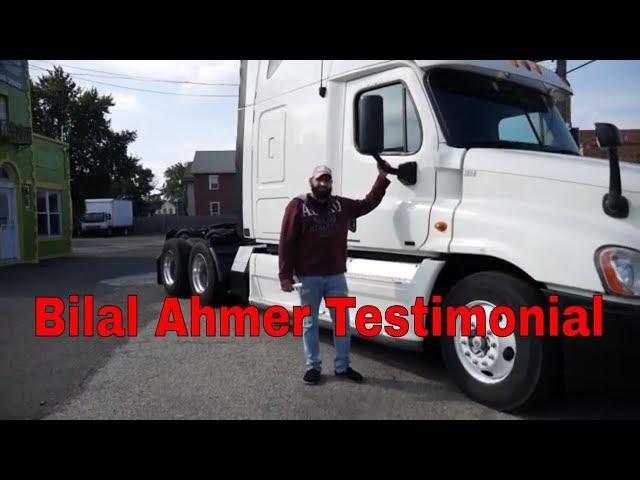 Bilal Ahmer Student Testimonial - CDL Driving Academy