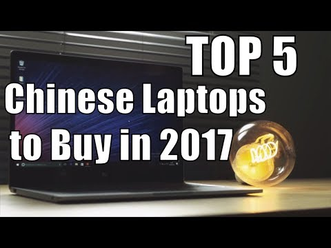 TOP 5 Best Chinese Laptops of 2017 (Second Half)