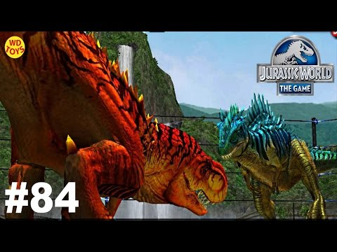 Jurassic World - The Game Dinosaurs Ludia Episode 84  T-Rex  Vs Indominus Rex  Gameplay  - WD Toys