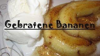 Gebratene Bananen mit Honig - Schnelles Dessert