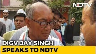 Digvijaya Singh, Contesting Election In Bhopal, Misses Voting In Rajgarh
