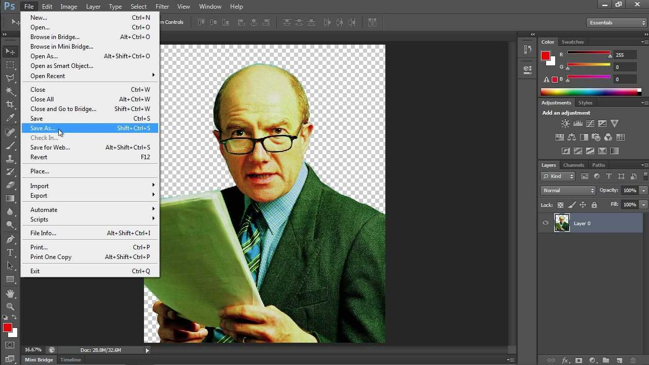 adobe photoshop replace color with transparent
