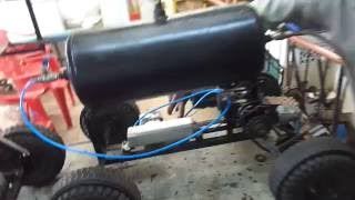 Mechanical engineering students projects--Automobile compressed air drive vehicle