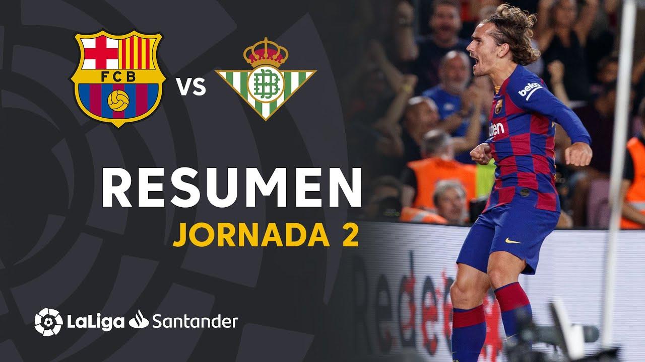 El resumen del Real Betis vs Barcelona, de La Liga: vdeo, goles y ...
