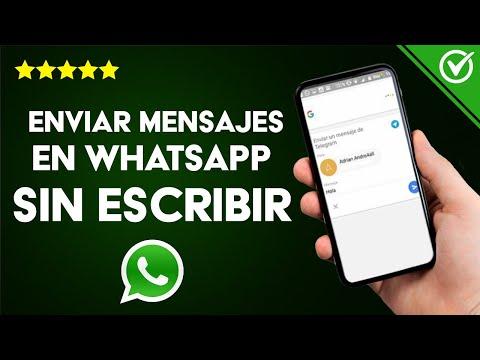 Cómo Enviar Mensajes de Textos en WhatsApp sin Tener que Escribir