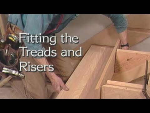 How to install stair treads and risers