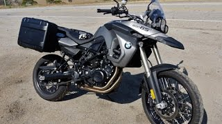 BMW F 800 GS exhaust sound compilation