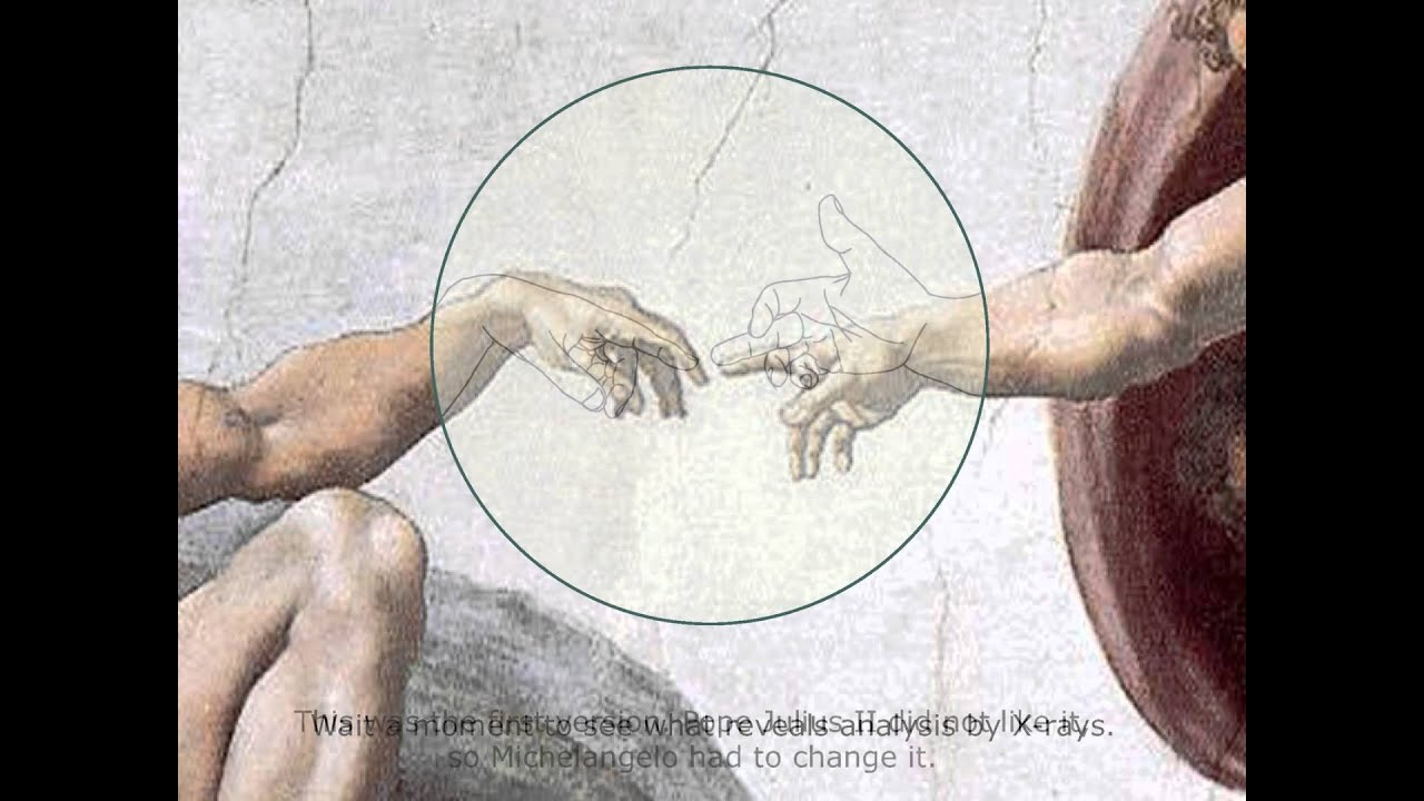 michelangelo s the creation of adam analized by x rays youtube