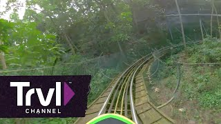 Ride the Mystic Mountain Bobsled - 360 Video