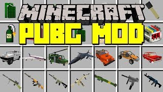 Minecraft PUBG MOD! | SURVIVE WITH NEW GUNS, TRUCKS, TRANKS, & MORE! | Modded Mini-Game