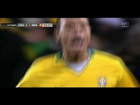 Luís Fabiano 2-1 -  USA v Brazil - Confederations Cup Final 2009