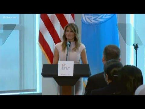 Melania Trump embarks on first solo international trip
