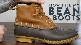 How to Tie Bean Boot Laces | How to Tie an Eastland Knot
