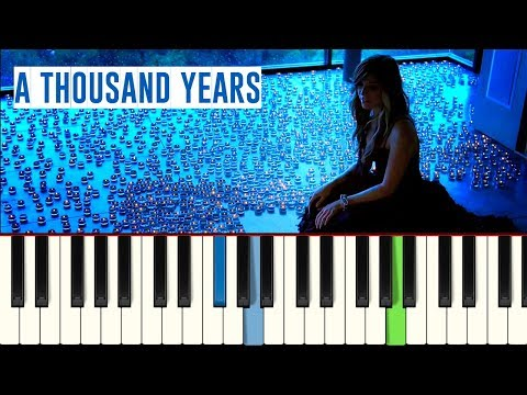 💎Christina Perri - A Thousand Years - Piano tutorial - MASTER TECLAS💎