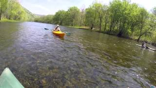 Kayaking on Pine Creek in PA May 2015 GoPro Hero 4 SUBSCRIBE!