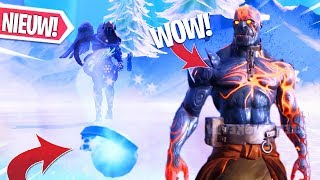 CHILLER GRENADE GAMEPLAY!! ALLE FIRE KING (SNOWFALL) SKIN STAGES & MAP CHANGES in FORTNITE!