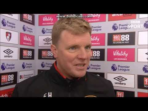 """""""Shelvey miss a huge moment""""-Eddie Howe post match interview   Bournemouth 2 Newcastle 2"""