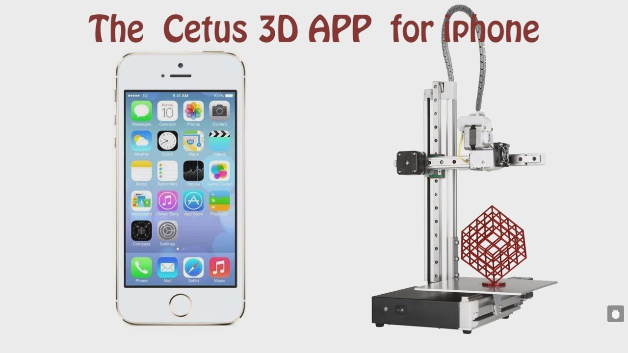 Cetus 3D Printer iPhone App Demo