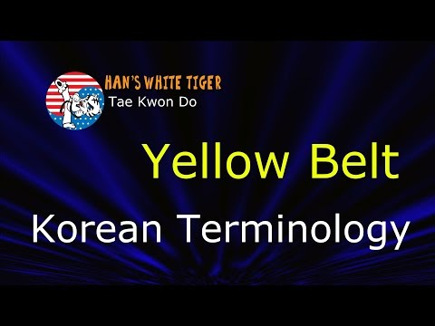 Yellow Belt Korean Terminology #2