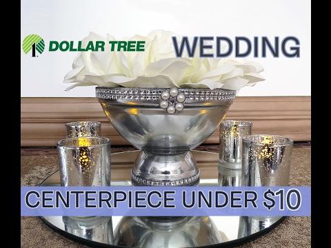 D.I.Y.  Beautiful Dollar Tree Pedestal Wedding Centerpiece -  Under $10 - 2017