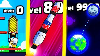 IS THIS THE FASTEST HIGHEST LEVEL ROCKET FACTORY EVOLUTION? (9999+ MOON LEVEL UPGRADE) l Rocket Star