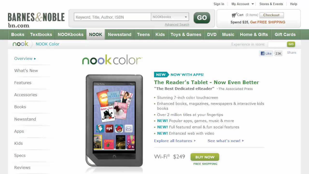 barnes noble nook color update