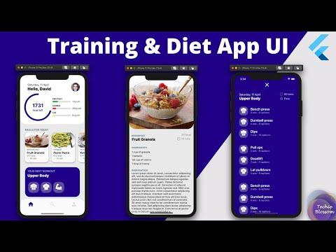 Training & Diet App   Flutter UI
