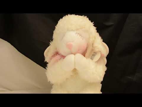 Russ Berry Wind Up Stuffed Animal Lamb Angel