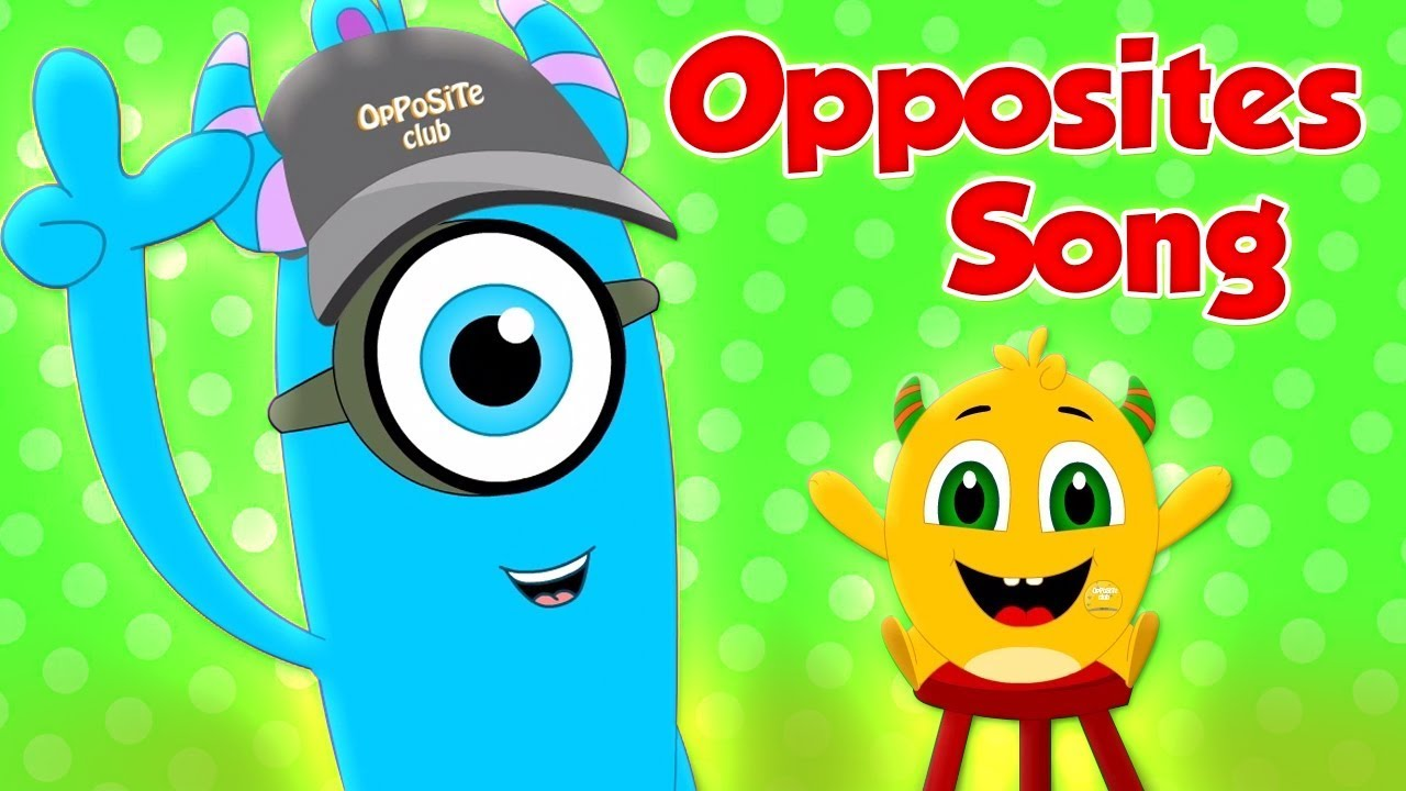 opposite songs for preschool opposites song coco beats cartoon preschool learning