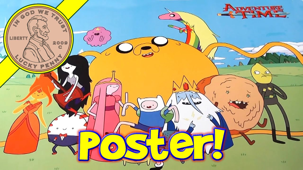Adventure Time Cartoon Group Wall Poster, Trends International - YouTube
