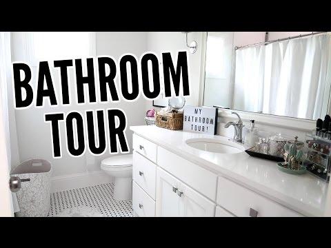 BATHROOM TOUR + MAKEUP COLLECTION!