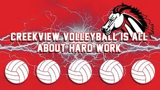 Creekview Volleyball is All About Hard Work