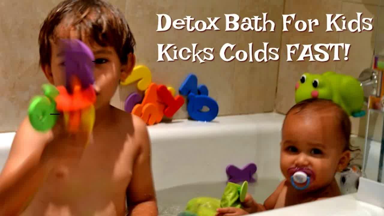 Detox Bath For Kids Kicks Colds Fast