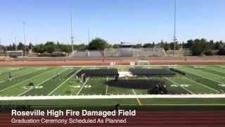 Roseville High Fire Damage