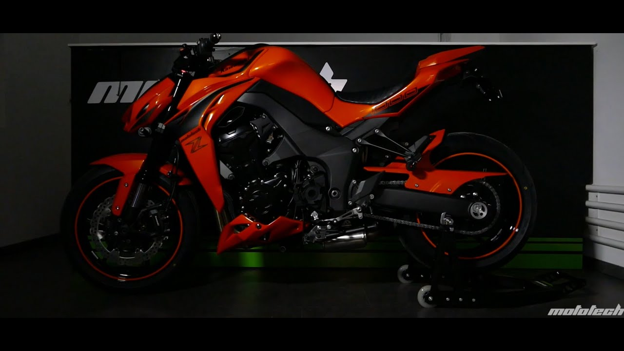 Kawasaki Z1000 Orange By PLANZERFILMS