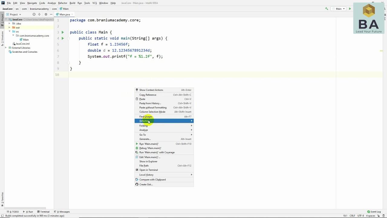 Làm tròn và hiển thị số thực trong Java với printf()