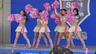 [4K動画] 炸裂するVジャンプを見逃すな!チアドラ2009が1日限りの復活ダンス!!